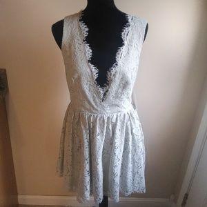 TOBI Sage Green Lace Dress